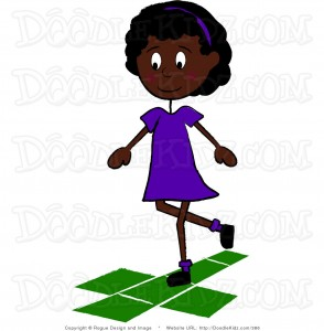 clip-art-illustration-of-an-african-american-school-girl-playing-hopscotch-by-pams-clipart-386